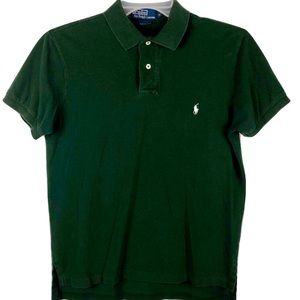 Polo Ralph Lauren Green Polo Shirt Mens Medium M